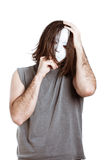 Bizarre scary man Stock Images
