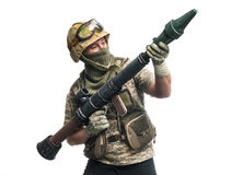 Bizarre soldier Royalty Free Stock Images