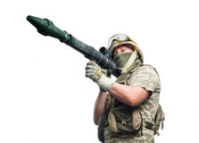 Bizarre soldier Royalty Free Stock Photo