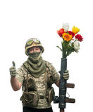 Bizarre soldier Royalty Free Stock Image