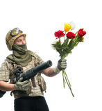 Bizarre soldier Royalty Free Stock Photography