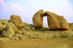 Bizarre stone formation, Hampi, India Royalty Free Stock Images