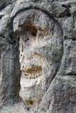 Bizarre Stone Heads - Rock Sculptures Royalty Free Stock Images