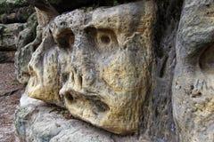 Bizarre Stone Heads - Rock Sculptures Stock Image