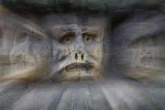 Bizarre Stone Heads - Rock Sculptures - in zoom Stock Photo