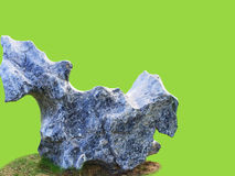 Bizarre stone. Stand on ground base with  background Royalty Free Stock Images