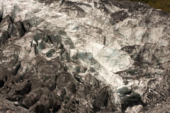 Bizarre structure of compressed ice, Fox Glacier, New Zealand, South Island Stock Photos