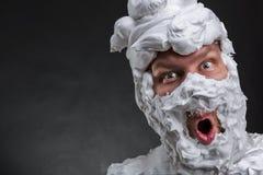 Bizarre surprised man Stock Photos