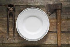 Bizarre tableware Stock Image