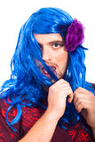 Bizarre transvestite man Royalty Free Stock Images