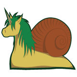Bizarre unicorn. A bizarre unicorn - or is it a snail Royalty Free Stock Image