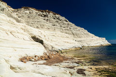 Bizarre white cliff Scala dei Turchi Royalty Free Stock Photos