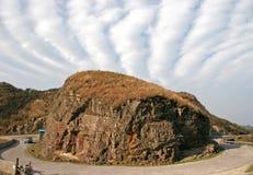 Bizarre wolken stock foto's