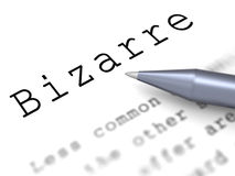 Bizarre Word Means Extraordinary Shocking Or Stock Image