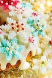 Bizcocho del azúcar de la Navidad Fotografía de archivo