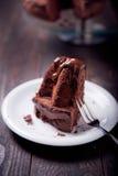 Bizcocho delicioso del chocolate imágenes de archivo libres de regalías