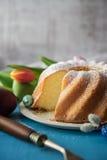 Bizcocho delicioso para Pascua fotografía de archivo libre de regalías