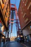 Bizkaia zawieszenia transporteru most wewnątrz (Puente de Vizcaya) Obraz Stock