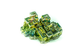 Bizmutowy cristal odosobniony Zdjęcia Royalty Free