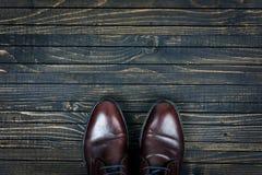 Biznesów buty na podłoga Zdjęcie Stock