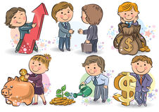 Biznesów dzieciaki Obraz Royalty Free