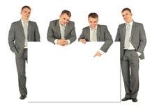 biznesów tekstów deskowi ludzie cztery Obrazy Royalty Free
