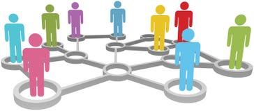 biznes łączy ogólnospołecznych sieci różnorodnych ludzi Fotografia Royalty Free