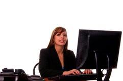 biznes biurko jej kobieta Obraz Stock