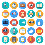 Biznes, biuro i marketingowe rzeczy ikony, Fotografia Royalty Free