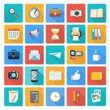 Biznes, biuro i marketingowe rzeczy ikony, Obrazy Royalty Free