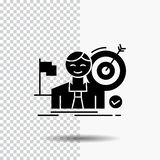 biznes, cel, uderzenie, rynek, sukcesu glifu ikona na Przejrzystym tle Czarna ikona ilustracja wektor