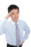 biznes daje mężczyzna salutowi Fotografia Royalty Free