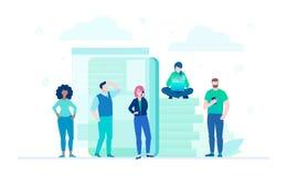 Biznes drużyna - płaska projekta stylu ilustracja Zdjęcia Stock