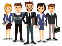 Biznes drużyna pracownicy i szefa wektor ilustracja wektor