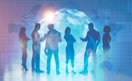 Biznes drużyna w globalnym światowym pojęciu ilustracja wektor