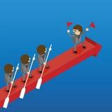 Biznes drużyna Wpólnie wiosłuje strzała ilustracji