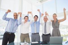 Biznes drużynowa odświętność dobra praca zdjęcie stock