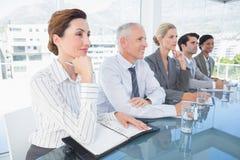 Biznes drużynowa słuchająca konferencja obrazy stock