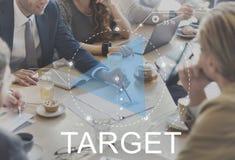 Biznes Dyskutuje celów celów przyrosta pojęcie Zdjęcia Stock