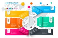 Biznes etykietki infographic na dwa warstwach okręgu baru ilustracja wektor