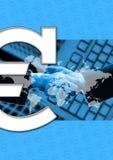 biznes euro znak Zdjęcia Stock