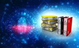 Biznes falcówki w cyfrowym tle i kartoteki 3 d czynią zdjęcie royalty free