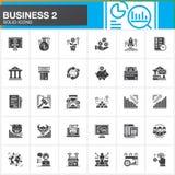 Biznes, finanse, pieniądze wektorowe ikony ustawiać, nowożytna stała symbol kolekcja, wypełniająca stylowa piktogram paczka Znaki Fotografia Royalty Free