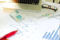 Biznes finansowa księgowość Fotografia Stock