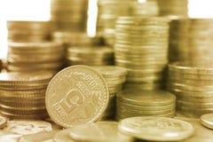 Biznes finansowa złocista moneta pojęcie bankowości inwestycja Fotografia Stock