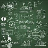 Biznes, finansowi elementy i ikony, doodle ręka Obraz Royalty Free