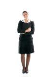 biznes folująca długości kobieta Fotografia Royalty Free