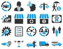 Biznes, handel, transport ikony Zdjęcia Royalty Free