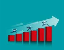 Biznes iść ścieżka sukces ilustracji