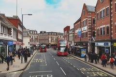 Biznes i robić zakupy teren na Eden ulicie, Kingston na Thames w Wielkim Londyn, Anglia Fotografia Royalty Free